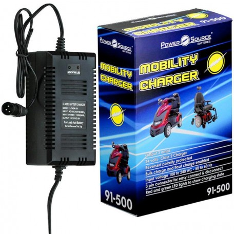 24v 3 amp LC4-24-3 off-board SLA AGM Battery Charger XLR connector