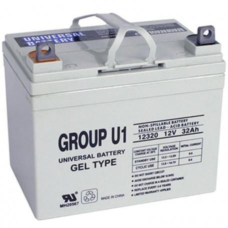 U1 GEL replaces 12 Volt 26 ah NP-GEL30-12 Wheelchair Battery