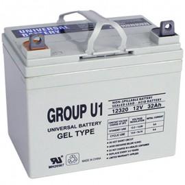 U1 GEL replaces Invacare 12 Volt 31a INVU1GEL_EA Wheelchair Battery