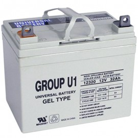 U1 GEL replaces Invacare 12 Volt 31ah 12v-SP Gel Wheelchair Battery