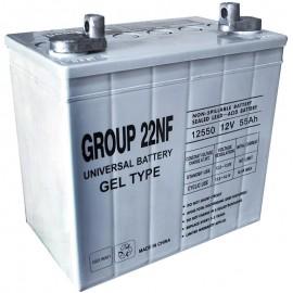 UB-22NF GEL replaces Sears 12v 50 ah Model 22 NF Wheelchair Battery