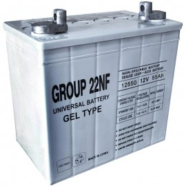 Universal Power UB-22NF GEL 12 Volt, 55 Ah Sealed GEL Battery