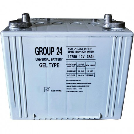 UB-24 GEL replaces Tempest 12 Volt 75 ah TG75-12 Wheelchair Battery