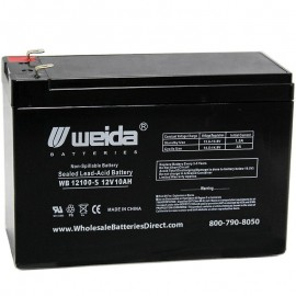 WB12100-S F2 Sealed AGM Battery 12 volt 10 ah Weida