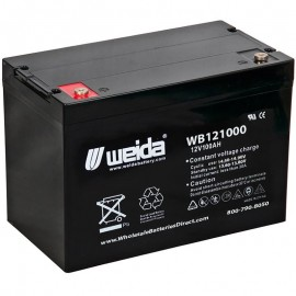 WB121000 IT SLA AGM Grp 24 12v 100ah Internal Threads Weida Battery