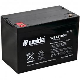 WB121000 IT SLA AGM Grp 24 12v 100ah Internal Threads Weida Battery