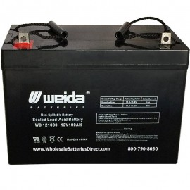 WB121000 Sealed AGM Group 27 Battery 12 volt 100 ah Weida z-post