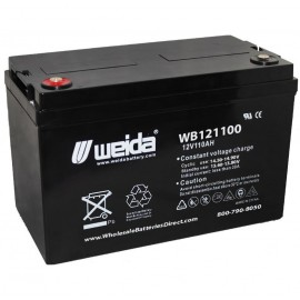 WB121100 IT SLA AGM Grp 30H 12v 110ah Internal Threads Weida Battery
