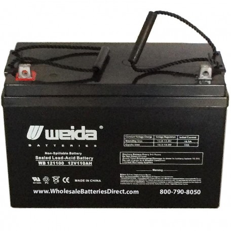 WB121100 Sealed AGM Group 30H 12 volt 110 ah Weida Battery z-post