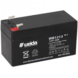 WB1213 Sealed AGM Battery 12 volt 1.3 ah Weida