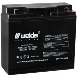 WB12180 F2 Sealed AGM 12 volt 18 ah Weida Battery replaces 18.8ah