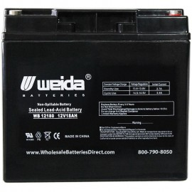 WB12180 Insert Terminals 12V18AH-X Sealed AGM 12v 18ah Weida Battery