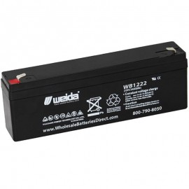 WB1222 Sealed AGM Battery 12 volt 2.2 ah Weida