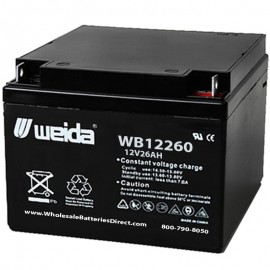 WB12260 Sealed AGM Battery 12 volt 26 ah Weida