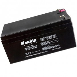 WB1234 Sealed AGM Battery 12 volt 3.4 ah Weida