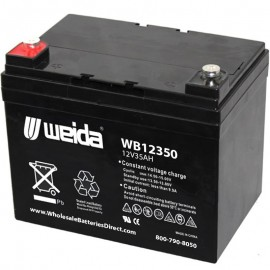WB12350 Sealed AGM 12v 35ah U1 Internal Threads Weida Battery