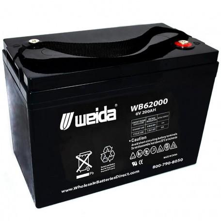 WB62000 SLA AGM 6 Volt 200ah Group 27 Electric Pallet Jack Battery