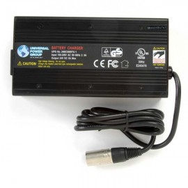 24 Volt 5 Amp Conventional Cooled, Sealed Lead Acid Battery Charger 3-Stage with LED Display 24BC5000T-1
