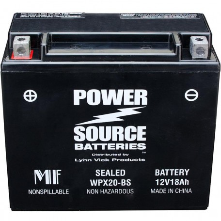 WPX20-BS Motorcycle Battery replaces 65991-82A for Harley