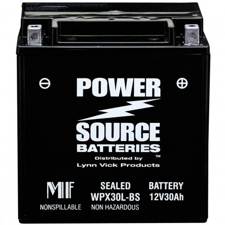 WPX30L-BS Motorcycle Battery replaces 66010-97A for Harley