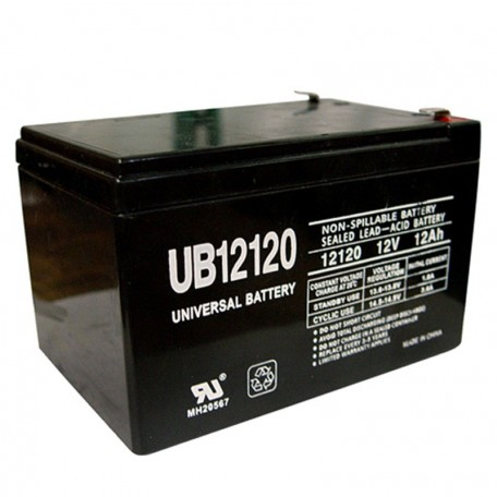 12 Volt 12 ah Security Alarm Battery replaces GS Portalac PE12V12