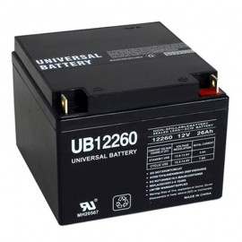 12 Volt 26 ah Alarm Battery replaces 24ah PE12V24A
