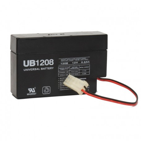 12 Volt 0.8 ah Security Alarm Battery replaces Yuasa Enersys NP0.8-12