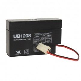 12 Volt 0.8 ah Security Alarm Battery replaces GS Portalac PE12V0.8