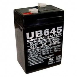 6 Volt 4.5 ah (6v 4.5a) UB645 Security Alarm Battery replaces 4ah