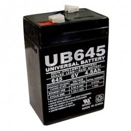 6 Volt 4.5 ah Alarm Battery replaces 4ah NP4-6
