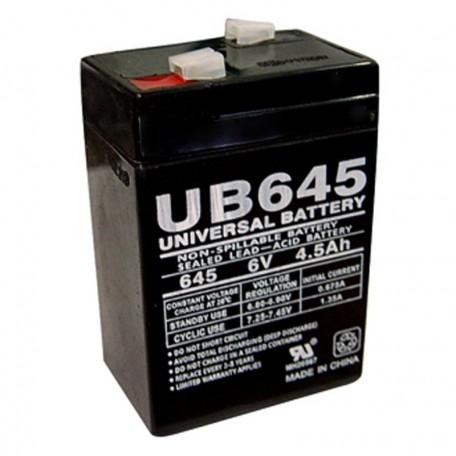 6 Volt 4.5 ah Security Alarm Battery replaces 4ah GS Portalac PE6V4