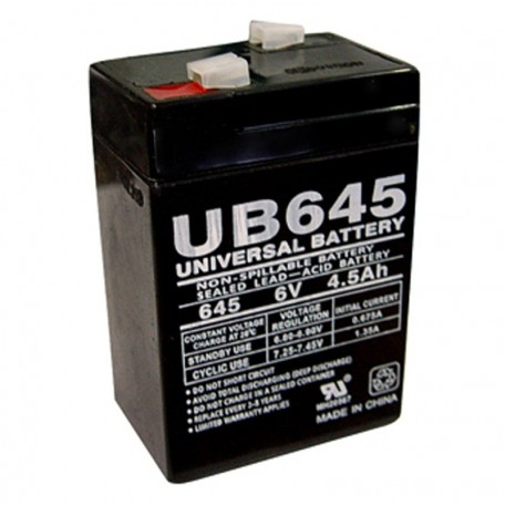 6 Volt 4.5 ah Security Alarm Battery replaces 6v 5ah ELK-0650