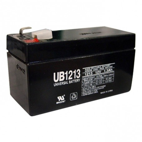 12 Volt 1.3 ah Security Alarm Battery replaces 1.2ah GS Portalac PE12V1.2