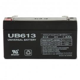 6 Volt 1.3 ah Alarm Battery replaces 6v 1.2a NP1.2-6
