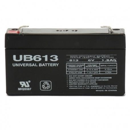 6 Volt 1.3 ah Alarm Battery replaces 6v 1.2a Yuasa Enersys NP1.2-6