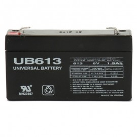 6 Volt 1.3 ah Security Alarm Battery replaces 6v 1.2a UltraTech UT-612