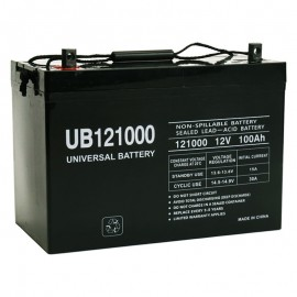 12 Volt 100 ah Fire Alarm Battery replaces Power-Sonic PS-121000