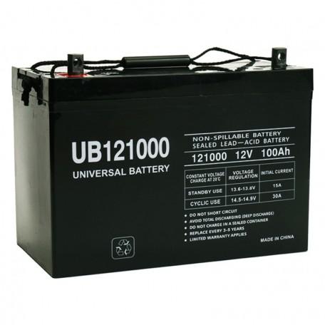 12 Volt 100 ah Fire Alarm Battery replaces Power-Sonic PS-121000