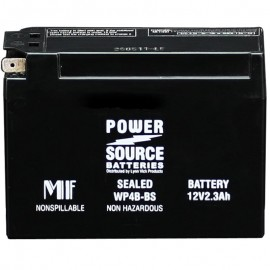 Power Source WP4B-BS Sealed AGM 50cca Motorcycle Battery