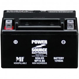 Power Source WP7A-BS Sealed AGM 90cca Motorcycle Battery