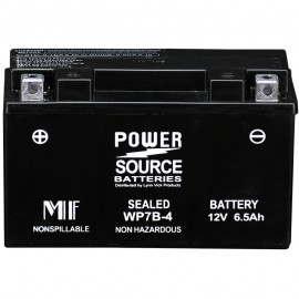 Power Source WP7B-4 Sealed AGM 125cca Motorcycle Battery