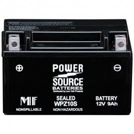 Power Source WPZ10S Sealed AGM 225cca Motorcycle Battery