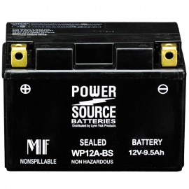Power Source WP12A-BS Sealed AGM 175cca Motorcycle Battery