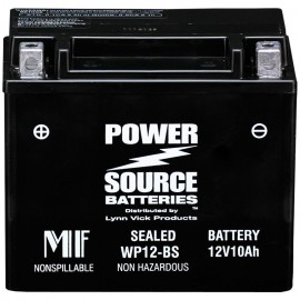Power Source WP12-BS Sealed AGM 220cca Motorcycle Battery