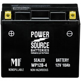 Power Source WP12B-4 Sealed AGM 225cca Motorcycle Battery