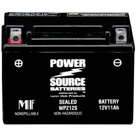 Power Source WPZ12S Sealed AGM 250cca Motorcycle Battery