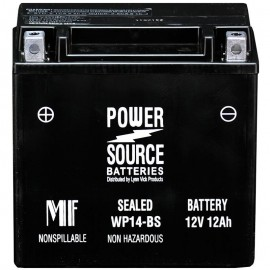 Power Source WP14-BS Sealed AGM 210cca Motorcycle Battery