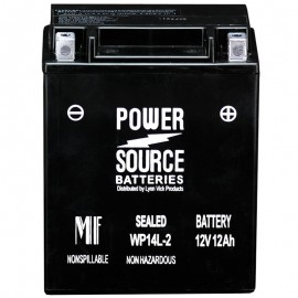 Power Source WP14L-2 Sealed AGM 210cca Motorcycle Battery