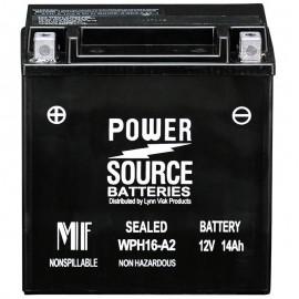 Power Source WPH16-A2 Sealed AGM 230cca Motorcycle Battery