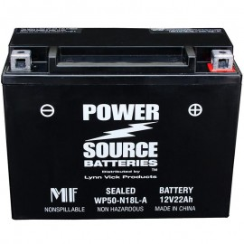 Power Source WP50-N18L-A Sealed AGM 350cca Motorcycle Battery